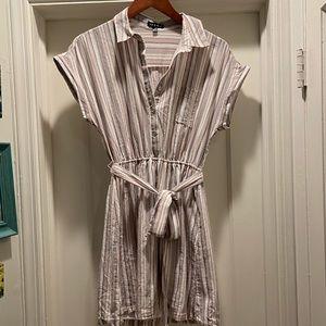 BOGO Free! Striped Shirt Dress